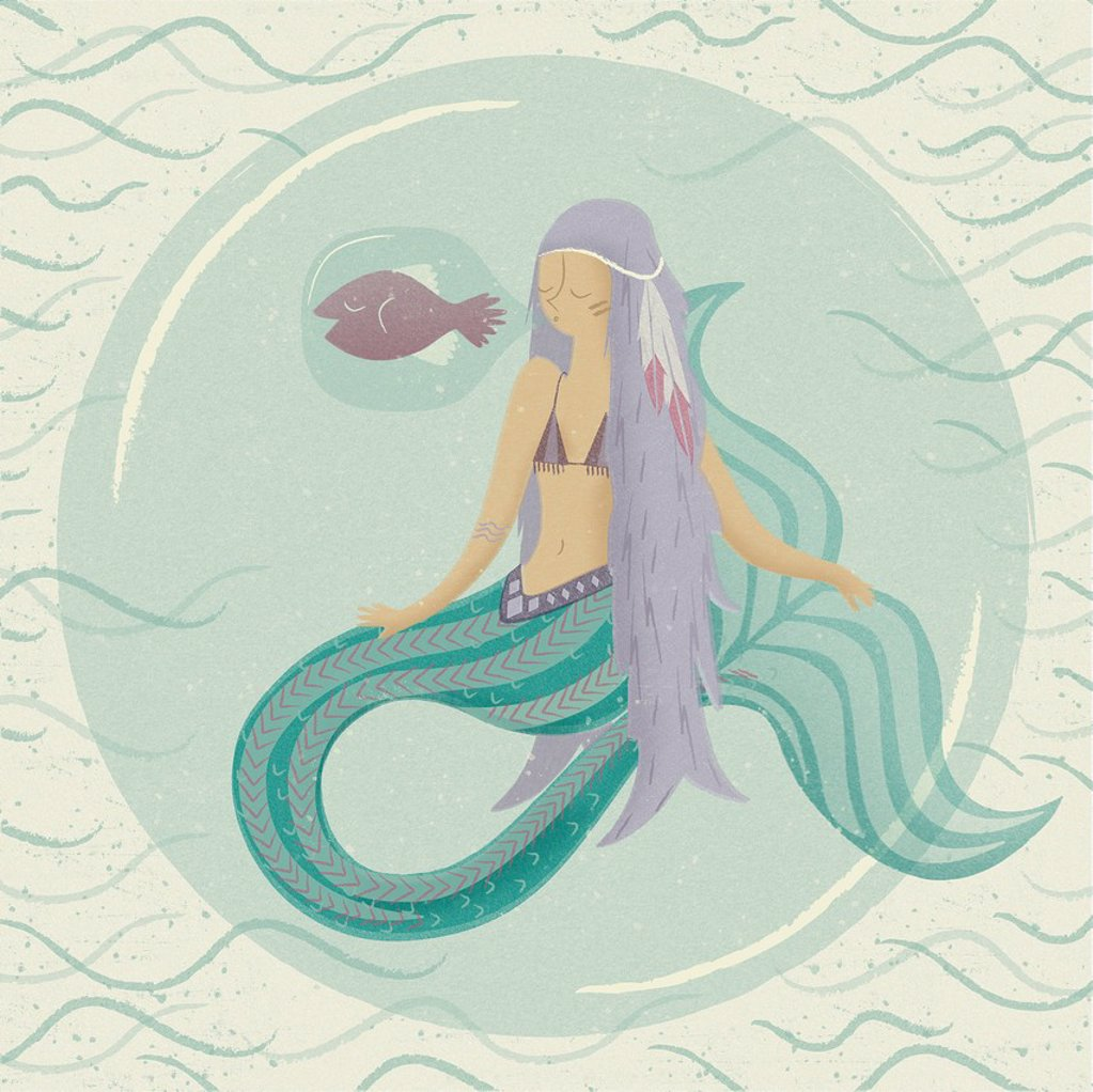 Stock Photo: 1538R-69981 A mermaid