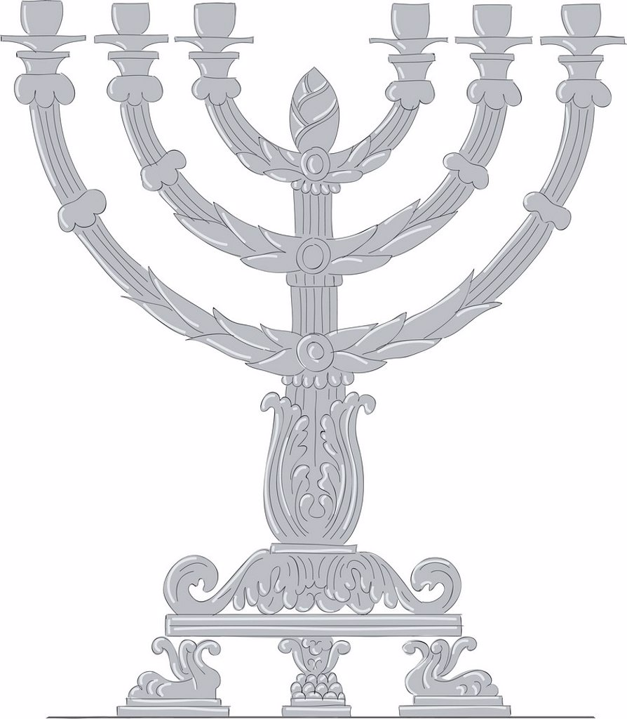 Stock Photo: 1538R-71020 An menorah