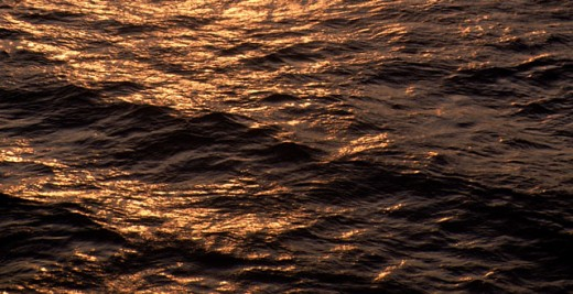 Stock Photo: 1555R-100082 Calm ocean at sunset