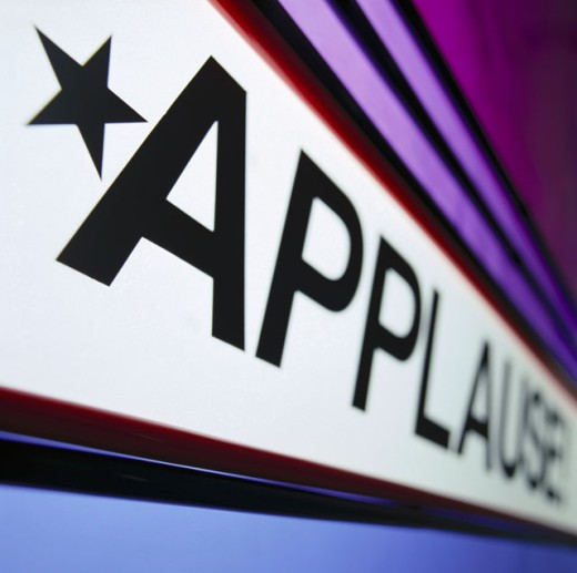 Stock Photo: 1555R-10061 Applause prompt sign