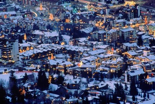 Stock Photo: 1555R-104007 Town of Vail, Colorado
