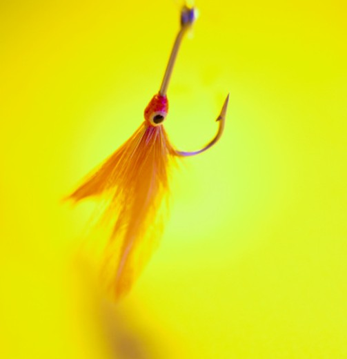 Stock Photo: 1555R-11030 Fish hook with lure