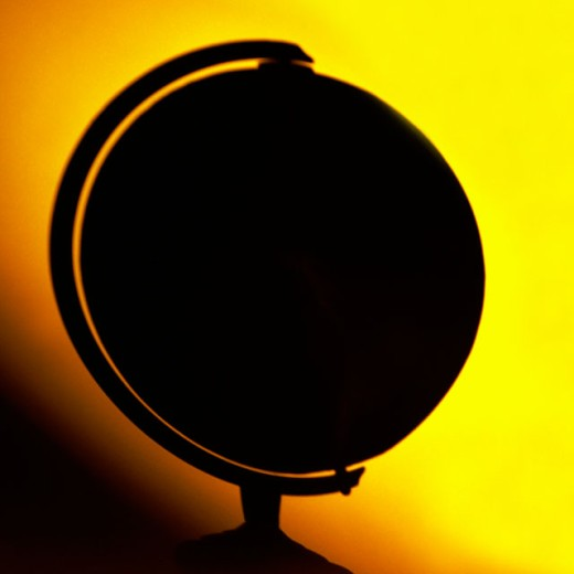 Stock Photo: 1555R-119083 Silhouette of a globe