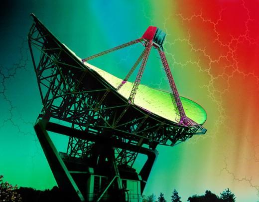 Stock Photo: 1555R-120013 Satellite dish