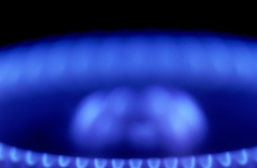 Stock Photo: 1555R-131030 Blurred gas burner