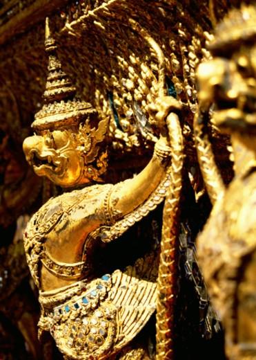 Stock Photo: 1555R-143099 Adornment on Wall of Grand Palace, Bangkok