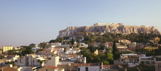 Stock Photo: 1555R-143100 The Acropolis, Athens
