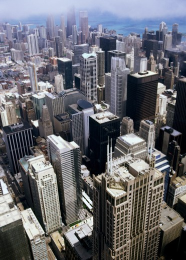 Aerial view of Chicago, Illinois : Stock Photo