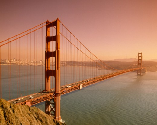 Golden Gate Bridge, San Francisco, California : Stock Photo