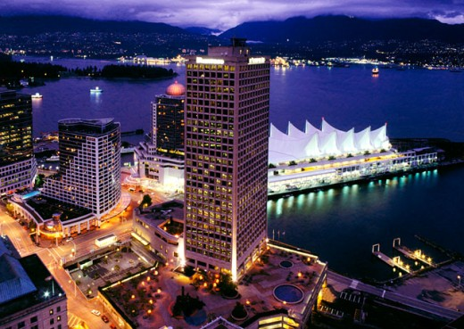 Aerial view of Vancouver Trade and Convention Center : Stock Photo