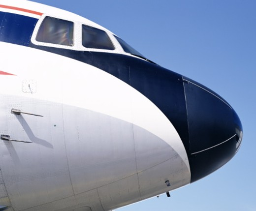 Nose of airliner : Stock Photo