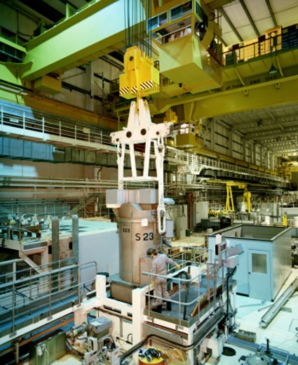 Nuclear reprocessing plant : Stock Photo