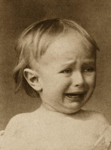 Crying boy : Stock Photo