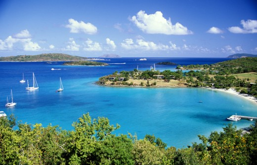 Aerial view of St. John : Stock Photo