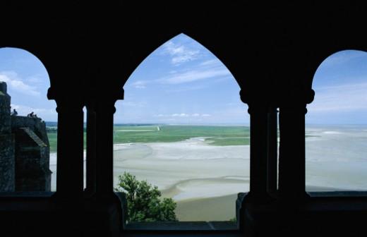 Stock Photo: 1555R-158009 Mont Saint Michel, Normandy, France