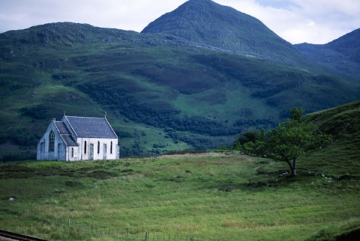 Stock Photo: 1555R-159030 Church in rural highlands