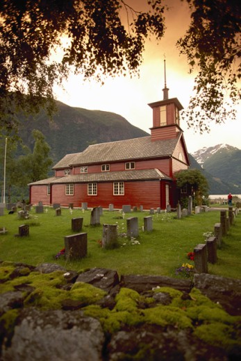 Church in Sonefjord, Norway : Stock Photo