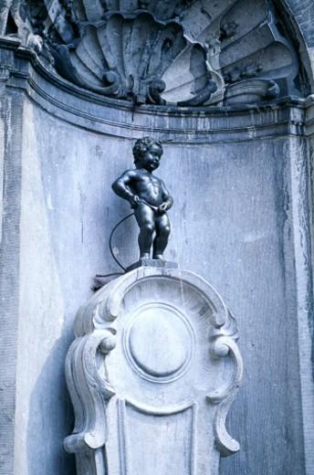Stock Photo: 1555R-160001 Manneken Pis, Brussels, Belgium