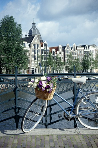 Stock Photo: 1555R-160047 Bike in Amsterdam, Holland