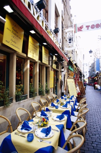 Cafe in Brussels, Belgium : Stock Photo