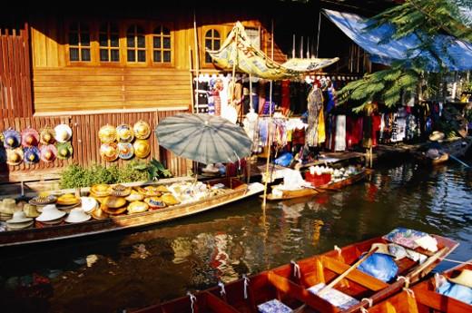 Damnoen Saduak Floating Market, Bangkok, Thailand : Stock Photo