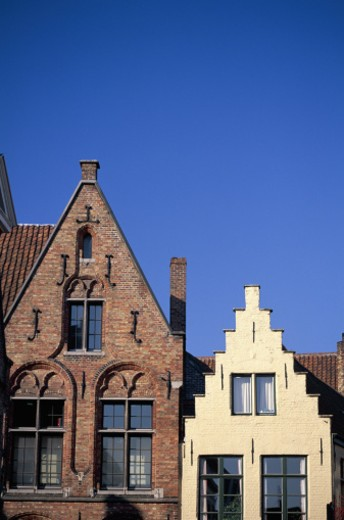 Ornate buildings, Bruges, Belgium : Stock Photo