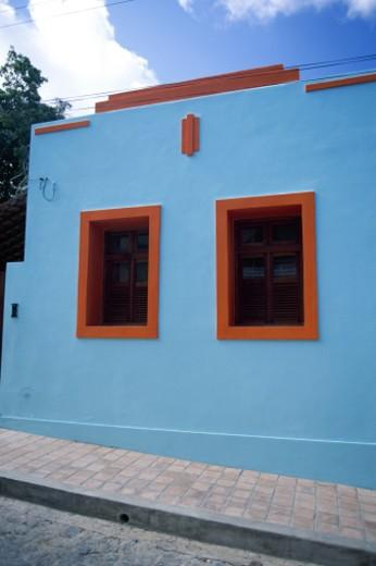 Colorful house, Olinda, Brazil : Stock Photo