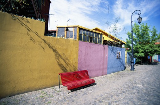Pastel walls, Buenos Aires, Argentina : Stock Photo