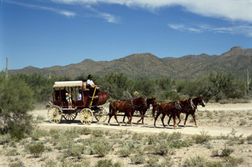 Stock Photo: 1555R-176094 Stagecoach, Tuscon, Arizona