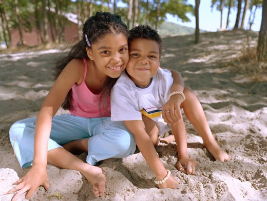 Children at beach : Stock Photo