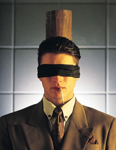 Man facing execution : Stock Photo