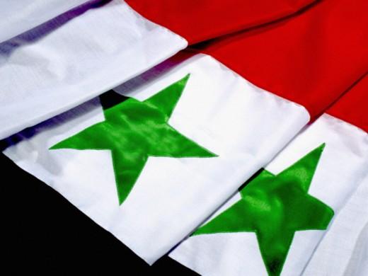 Flag of Syria : Stock Photo