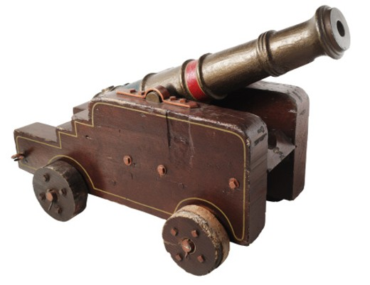 Old-fashioned cannon : Stock Photo