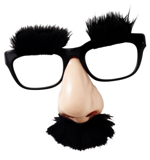 Stock Photo: 1555R-203026 Costume glasses with hairy eyebrows and mustache