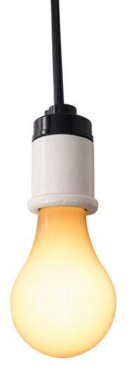 Hanging lightbulb : Stock Photo