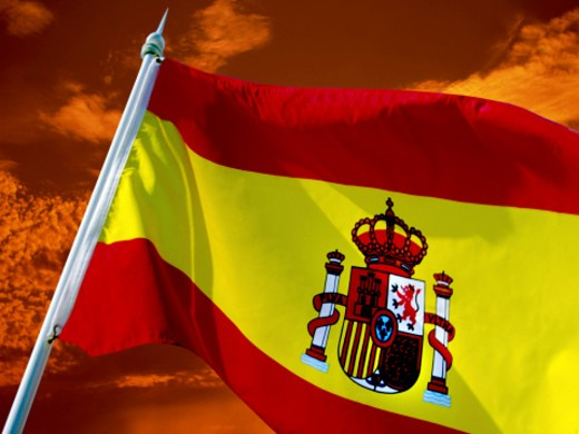 Stock Photo: 1555R-2042 Flag of Spain