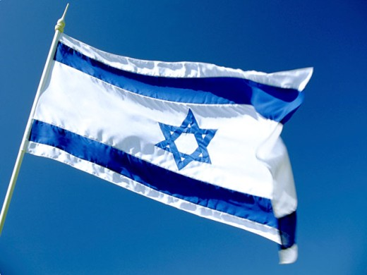 Stock Photo: 1555R-2050 Flag of Israel