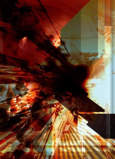 Stock Photo: 1555R-217010 Binary abstract