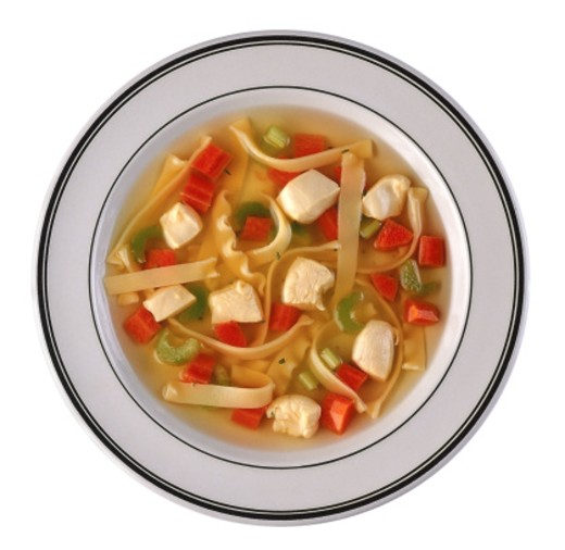 Stock Photo: 1555R-23017 Chicken noodle soup