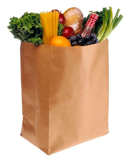 Stock Photo: 1555R-23055 Bag of groceries