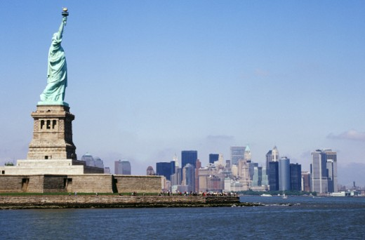 Stock Photo: 1555R-232008 Statue of Liberty, New York City, New York