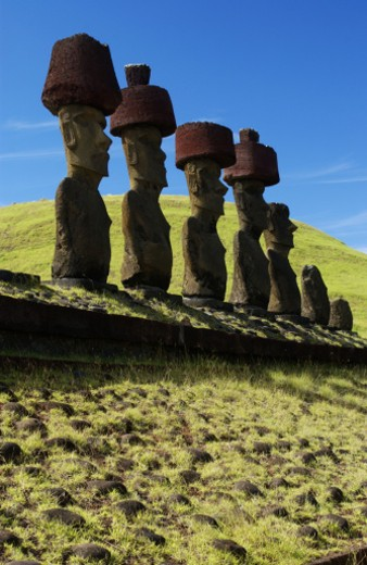 Stock Photo: 1555R-232026 Rapa Nui artifacts, Easter Island