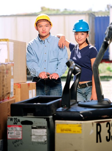 Stock Photo: 1555R-237017 Factory workers