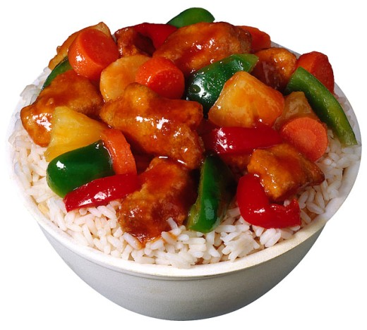 Sweet and sour chicken : Stock Photo