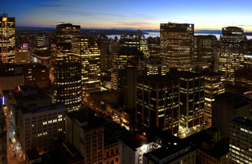 downtown Vancouver, Canada : Stock Photo