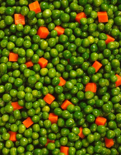 Stock Photo: 1555R-25037 Peas and Carrots