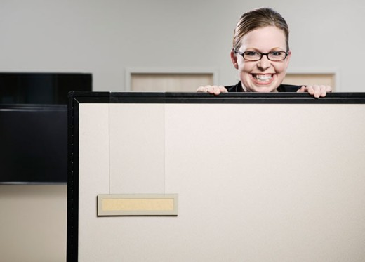 Stock Photo: 1555R-260025 Playful businesswoman in office