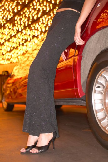 Stock Photo: 1555R-263029 Woman arriving at a casino