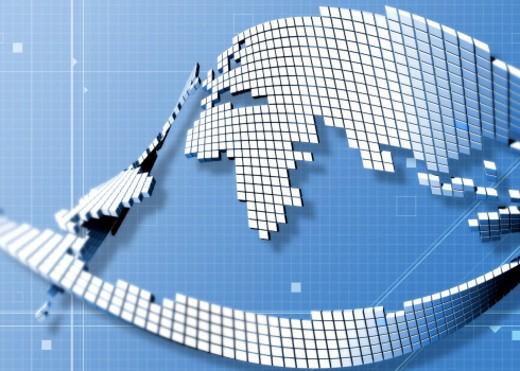 Pixelated earth : Stock Photo