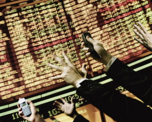 Stock Photo: 1555R-267031 Hectic stock market